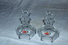 Avon Vintage Coin-Dot Candlasticks 1961-72 Representitive Gifts,Fostoria Glass