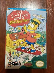 The Simpsons Bart Vs. Space Mutants (Nintendo NES) Authentic Tested CIB Case Box