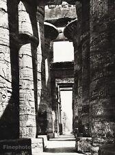 1934 Vintage 11x14 EGYPT ~ Thebes Karnak Temple Stone Temple Photo Art HURLIMANN