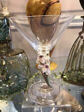 Franz Porcelain Slipper Orchid Martini Glass Msrp $109.00