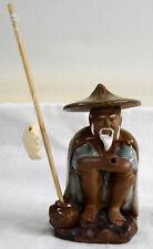 *CBG, alter Chinese beim Angeln, Dekoration zum Bonsai, Keramik, Grün