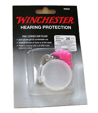 Winchester Hearing Protection-Pink Corded Ear Plugs for Hunting, Sport Shooting