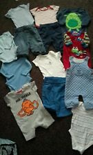 BABY BOYS 0-3 MONTHS BUNDLE Inc NEXT H&M ROMPERS DUNGAREES BOTTOMS GROWS SUMMER