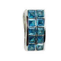 bonnie Topas 925 sterling silber Blau anhänger echte exporteur de geschenk