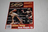 JAMES TONEY AUTOGRAPHED SIGNED AUTO BOXING 8X10 PHOTO RING MAGAZINE COVER