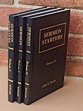 LOT-SERMON STARTERS VOLUME 8, 9, AND 10 - HB- JOHN G. BUTLER- SPECIAL PRICE!