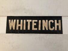 """Glasgow Partick Vintage Linen Tram Bus Blind 25""""- Whiteinch White Inch"""