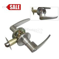 Entrance Keyed Entry Satin Chrome Commercial Door Handle Lock Grade 2 Lever NEW