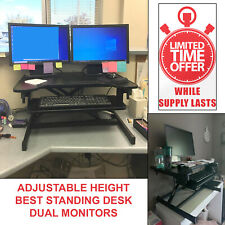 Standing Desk Computer Stand Home Office Laptop Workstation Adjustable Height