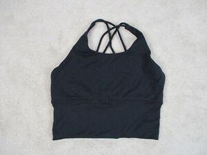 Lululemon Bra Womens Small Black Pull On Yoga Workout Sports Bra Casual Ladies