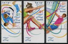 Rio Summer Olympics mnh set of 3 tabbed stamps 2016 Israel #2110-2 Windsurfing