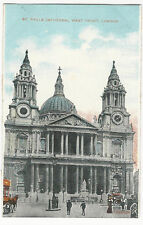 London - St. Paul's Cathedral, West Front - Vintage Star Series Postcard