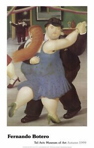 FERNANDO BOTERO Dancers 37 x 23 Poster 1999 Brown