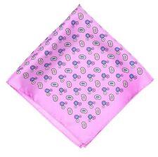 Nordstrom Mens Purple Paisley Floral Silk Pocket Square 5307