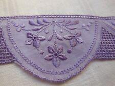 piccolo intarsio vintage senza dubbio colorata a mano di seta lilla n°3
