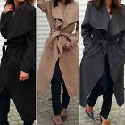 Fashion Women Winter Warm Trench Coat Long Loose Jacket Outwear Parka Overcoat