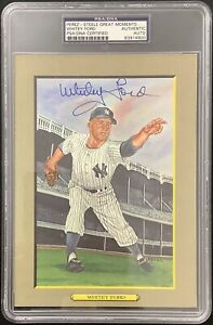Whitey Ford Signed Perez Steele Great Moments Postcard Yankees Autograph PSA/DNA