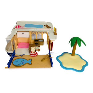 Calico Critters Sylvanian Families Seaside Cruiser Playset Near Complete