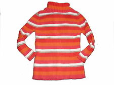 Okaidi tolles Langarm Shirt / Rolli Gr. 92 / 98 orange-rot gestreift !