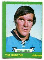 1973-74 OPC Tim Horton Card #189 Buffalo Sabres