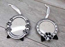In Memory Pet Bereavement Ornament Frames for Home Decor, Set of 2