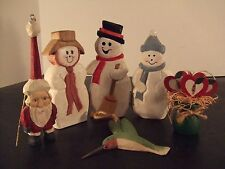 5 Assorted Hand Crafted Christmas/Holiday Items And Ornaments