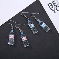 Creative Women Mineral Water Bottle Earrings Dangle Ear Hook Earrings Jewelry