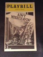 "April 1980 Plymouth Theatre Playbill for AIN""T MISBEHAVEN'"