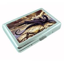 Metal Silver Cigarette Case Holder Box Dragon D7 Custom RFID Protection