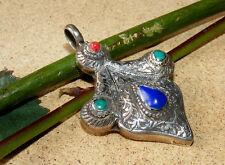Orient Massiv Silber und karneol Kasak  Anhänger  aus Afghanistan pendant  Nr-8