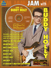 Jam With BUDDY HOLLY Music Book Play Guitar CD TAB NEW