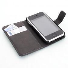 Apple iPhone 3G 3GS Housse pour wallet devise noir + protection d'écran