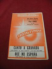 Partition Canto a Granada Paso Doble Gasquez Olé mi Espana Castillos