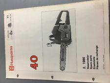 husqvarna chainsaw 40 sx86.109 illustrated parts list manual chainsaw