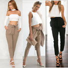 Womens Fashion Stretch High Waist Jogger Leggings Loose Casual Pants Trousers