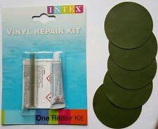 5x Vinyl Repair Patch + Glue Kit: Inflatable Boat, Pool, Bestway Voyager, Intex