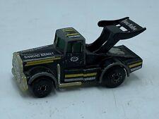 Matchbox 1982 Kenworth Tyrone Malone Bandag Bandit Black Gold Truck