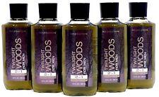 5 Bath & Body Works Twilight Woods For Men Body Wash 10 Fl Oz ea NEW!