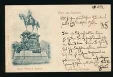 AK Gruss aus Frankfurt, Kaiser Wilhelm I. Denkmal, gelaufen 1897 (58622)