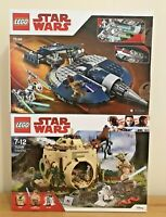 Lego Star Wars Bundle Sets 75199 & 75208 Yoda's Hut & General Combat Speeder NIB