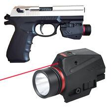 Tactical LED Flashlight Red Dot Laser Sight Combo For 20mm Rail Glock Pistol