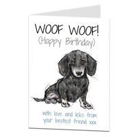 Dachshund Birthday Card Perfect For Mum Dad Or Any Owner Sausage Dog Wiener