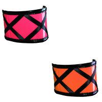 Unisex Novelty Fancy Dress Neon Colour Sweatbands Wristbands Pair Choose Colour