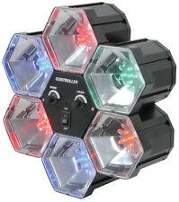 QTX PL6 6 vías Pod LED Fiesta Discoteca Luz Sonido Activado 6 Colores (153.002)