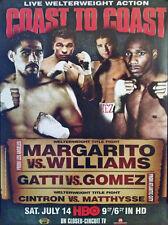 Vintage Original Arturo Gatti vs. Alfonso Gomez & Margarito Boxing Fight Poster