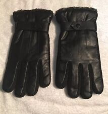Winter Leather Gloves, Wool Fleece Lined Warm Gloves, New.