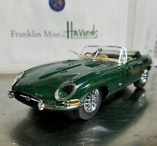 1/24 Franklin Mint Harrods Green 1961 Jaguar E Type  XKE Convertible B11ZG23