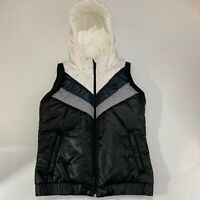 Adidas womens puffer vest size small with hood jacket outdoor bodywarmer