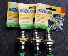 3 X HOZELOCK PRO DOUBLE MALE CONNECTOR 2044