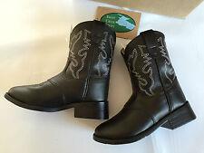 BNWT Little Boys Sz US 5 Swift Creek Brand Black Cowboy Western Style Boots
